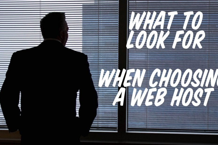 what to look for when choosing a web host featured image